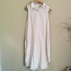 ADRIENNE VITTADINI 100% Linen dress with Pockets